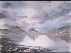 Painting from a photo. Wastwater, Lake District. - YouTube