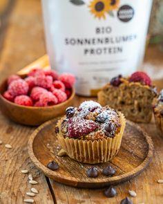 Gesunde Bananenbrot Muffins - vegan und proteinreich - Mrs Flury Cupcakes, Vegan, Breakfast, Food, Healthy Sweets, Oat Flour, Healthy Desserts, Easy Cooking, Clean Foods