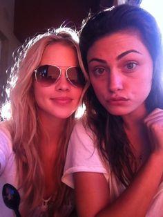 Claire Holt & Phoebe Tonkin aka Rebekah & Hayley. The Vampire Diaries. The Originals. <3 <3