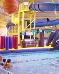East Sands Leisure Centre St Andrews. Only a short drive from Sandcastle Cottage. Flumes and lanes for adult swimming. Fun for all the family on a wet day
