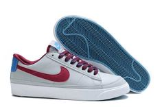 Nike Blazer Low 09 ND Mens Shoes Grey White Red UK Perfect