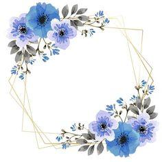 Blue Flower Corner | Flower Background Wallpaper, Floral