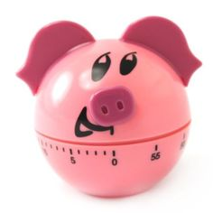 Pink Pig Kitchen Timer- Want! Pig Kitchen Decor, Turquoise Kitchen Decor, Lemon Kitchen Decor, Kitchen Decor Themes, Farmhouse Kitchen Decor, Kitchen Cook, Country Kitchen, Kitchen Redo, Kitchen Hacks