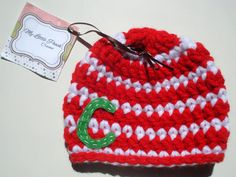 Newborn Christmas gift - personalized baby Christmas gift - Christmas hat - baby Christmas hat - baby Christmas gift - newborn Christmas hat
