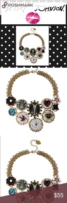 Critter Coin & Cameo Necklace Betsey Johnson Do not fall for dupes on EBay and Amazon!  I have a receipt from Nordstrom I will provide purchaser!  Gorgeous necklace and discontinued to my knowledge!  This is a treasure!  So whimsical!  💐bundle for discount!  See my listing on discounts!  This qualifies for up to 25% off WITH bundle💐 never used or worn, pristine condition, no flaws , 100% authentic!! Betsey Johnson Jewelry Necklaces