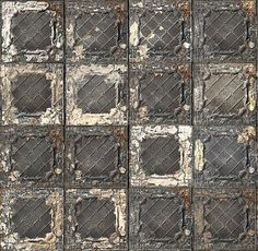 Amazing pressed tin look wallpaper.  Perfect for a kitchen ceiling.