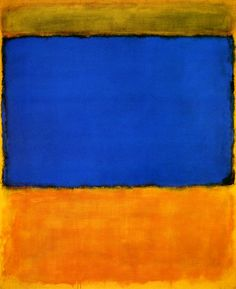 Mark Rothko - blue and yellow