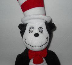 "Cat in the Hat Stuffed Plush Dr. Seuss 14"" Universal Studios Crazy Eyes #UniversalStudios"