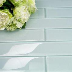 Splashback Tile Contempo Vista Polished Seafoam Green Glass Subway Wall Tile - 2 in. x 8 in. Tile Sample-SMP-CNTMPVISTA-PLSHD SEAFOAM GRNSAMPLE - The Home Depot