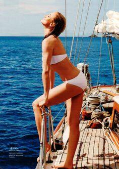 Swimming with Cameron Diaz Get the Bikini http://www.araks.com/products/eloisa-swim-top-white