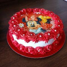 Minnie Mouse Birthday Cakes, Bolo Minnie, Easy Cake Decorating, Muffins, Cake Designs, Decoration, Birthdays, Cupcakes, Disney