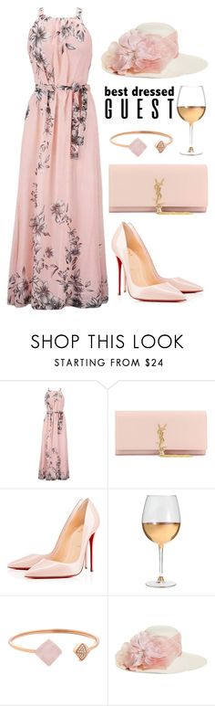 """Pink"" by pjwrdyt ❤ liked on Polyvore featuring Yves Saint Laurent, Christian Louboutin, Marc Blackwell, Michael Kors, Brooks Brothers, napa, winerywedding, bestdressedguest and vineyardwedding"