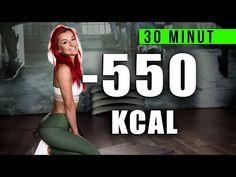 GORĄCE SPALANIE W 30 MINUT! INTERWAŁOWY TRENING ODCHUDZAJĄCY / spal 550 kalorii ! - YouTube Tabata Workouts, Ga In, Gym, Health Fitness, Hair Beauty, Weight Loss, Lifestyle, Sports, Youtube