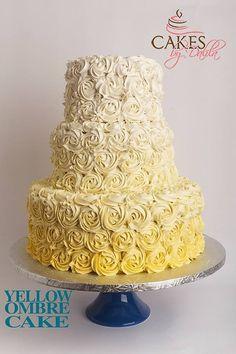 Ombré cake!