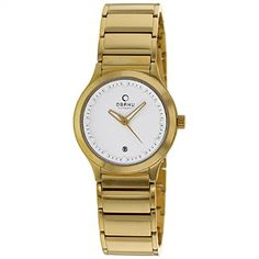 Obaku Womens Infinity Stainless Steel Analog Quartz Watch  White  V115LGWSG * To view further for this item, visit the image link.