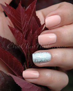 Summer Peach manicure #nails