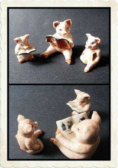 Story book pigs - precious for the Atrium!