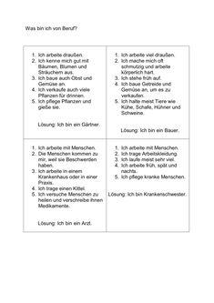 """Hier werden 12 Berufe gesucht, in Anlehnung an """"Das Dings"""". Pro Beruf werden immer fünf Hinweise gegeben, spätestens dann hat das Gegenüber hoffentlich den - zu Aphasie. Auf madoo.net für deine logopädische Therapie. Learn German, We Can Do It, German Language, About Me Blog, Teaching, Education, Words, Alphabet, Lose Weight"""