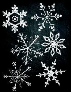 chalkboard snowflake - Google Search                                                                                                                                                                                 More