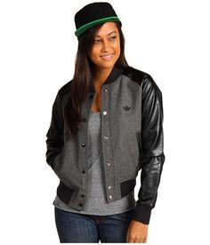 adidas Originals Glam Varsity Wool Jacket Dark Grey Heather/Black