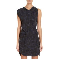 Isabel Marant Marcia Print Sleeveless Dress With Top-stitched Tucks at Barneys.com