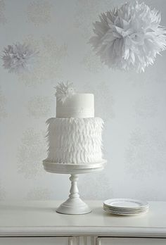 A modern wedding cake