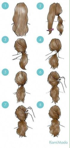 Great Pic Simple daily hairstyles step by step for girls Gym route . Tips Each hair has its quality, and can be individually carried. You can find therefore many sweet hair Easy Everyday Hairstyles, Easy Hairstyles For Medium Hair, Daily Hairstyles, Girl Hairstyles, Hair Styles Everyday, Gym Hairstyles Easy, Step By Step Hairstyles, Simple Hairdos, Wedding Hairstyles