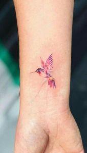 Colibri Alitas Rosadas Tatuajes De Colibris Tatuajes Y Colibris