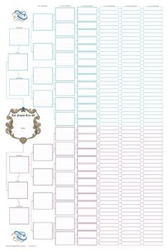Ancestor Pedigree Chart   Blank family tree charts - Family Tree Books and Charts: