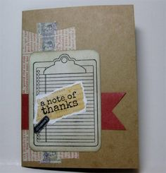 note of thanks {jillibean itty bitty} - Unity Stamp Co