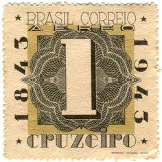 Vintage Brazil postage stamps
