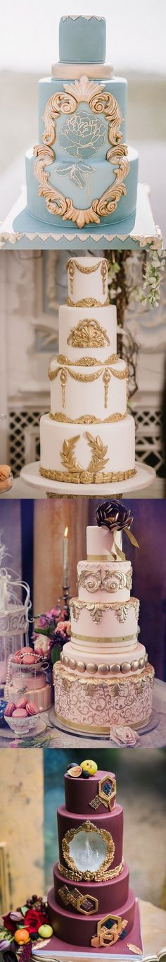 vintage baroque wedding cakes #weddings #vintageweddings #weddingideas #weddingdecor