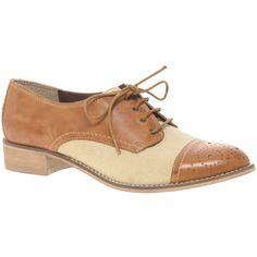 Aldo Anderdonau Canvas & Leather Brogue Shoe