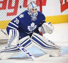 Antoine Bibeau #30 of the Toronto Maple Leafs