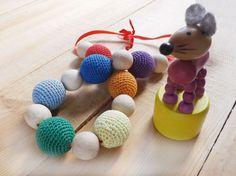 Breast feeding necklace Crochet breast feeding beads by RECHIStore