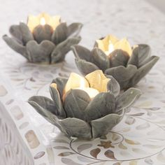 Lotus Candle Holders - use beeswax candles! Lotus Candle Holder, Ceramic Candle Holders, Ceramic Lantern, Ceramic Art, Asian Bedroom Decor, Feng Shui, Buddha Decor, Candle In The Wind, Newlywed Gifts