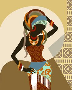 African Woman  African Wall Art  African Wall Decor by iQstudio, $15.00