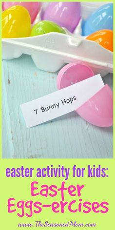 Easter Activity for Kids: Easter Eggs-ercises | Easter Games | Easter Ideas | Easter Crafts #eastergames #eastercrafts #TheSeasonedMom