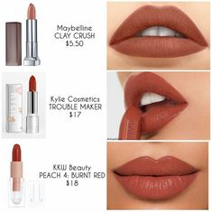 Lipstick dupes - Maquillaje y Brochas - Make Up Beauty Make-up, Beauty Dupes, Beauty Hacks, Beauty Women, Natural Beauty, Hair Beauty, Parfum La Rive, Drugstore Makeup Dupes, Mac Dupes