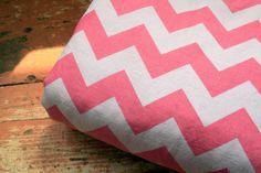 Pink Chevron Minky Baby Blanket