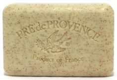 Pre de Provence Soap, Honey Almond, 8.8 -Ounce Cello Wrap by Pre de Provence. $7.34. 250 g. Country of origin: France. These best-selling soaps are triple milled in Provence using the old-world methods. They're enriched with natural shea butter to cleanse and soften, and infused with pure essential oils to add delicate aroma. Equally wonderful for gifts, guests and personal care.  This large 250 gram bar is our best value, the fragrance maintains until the soap is all...