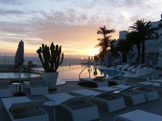 Marina Bayview pool (Puerto Rico) at sunset