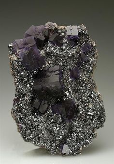 Fluorite on Sphalerite from USA. Crystal Classics Minerals