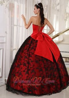 Red Sweetheart Sweet 15 Dresses