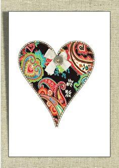Shabby Chic Heart Picture Print Unique Design