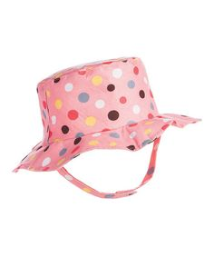 This Pink & Brown Polka Dot Sunhat is perfect! #zulilyfinds