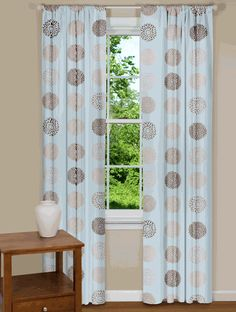 Curtains and Drapes - Blue and Brown Curtains | Drapes - bedroom?