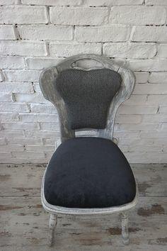 Krzesło ręcznie malowane Krzesło tapicerowane w BYZYDURKI na DaWanda.com