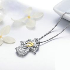 """Guardian Angel"" Sterling Silver Necklace Sterling Silver Necklaces, Silver Earrings, Guardian Angel Necklace, Silver Ring Designs, Necklace For Girlfriend, Christian Jewelry, Bar Necklace, Crystal Jewelry, Diamond Jewelry"