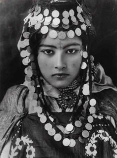 Berber Girl in traditional dress, Tunisia, early 1900s